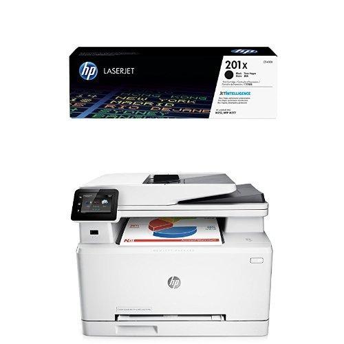 Preisvergleich Produktbild HP 201X (CF400X) Schwarz Original Toner mit hoher Reichweite für HP Color Laserjet Pro M252, M274n, M277 + HP LaserJet Pro MFP M277dw Laser Multifunktionsdrucker (A4, Farblaserdrucker, Scanner, Kopierer, Fax, Duplex, Ethernet, USB, Wlan, 600 x 600) weiß