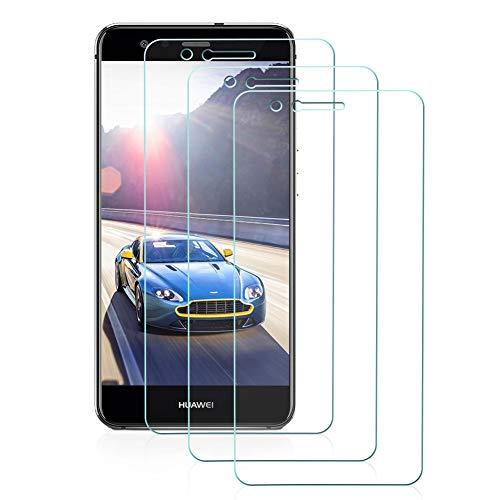 Preisvergleich Produktbild Huawei P10 Lite Panzerglas Schutzfolie3 Stück,  Hohe Qualität Glas Displayschutzfolie 9H Härtegrad,  Ultra Klar, Anti-Kratzen,  Anti-Fingerabdruck,  Gehärtetes Glas Transparent Panzerglas Folie für P10 Lite
