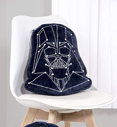 41yki586K9L - Star Wars Cojín con Forma de Darth Vader niños, Ideal para Cualquier Dormitorio o guardería