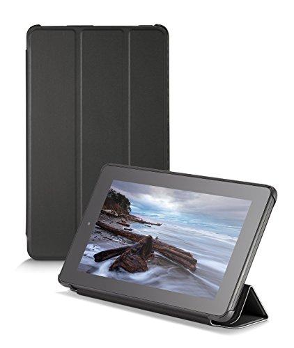 NuPro Schlanke Hülle mit Standfunktion für Fire (7-Zoll-Tablet, 5. Generation - 2015 Modell), Schwarz