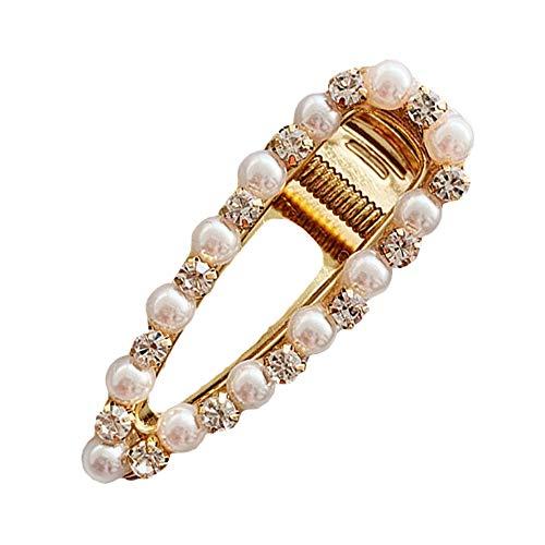 Mode Perle Haarspange für Frauen Mädchen Künstliche Strass Perle Felge Haarnadeln Haarspangen Metall Haarnadel für Headwear Styling Zubehör -