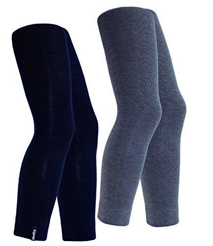 EveryKid Ewers 2er Pack Jungenleggings Sparpack Leggings Markenleggings Freizeithose einfarbig Kinder (EW-94212-S17-JU3-129-2650-122/128) in Marine-Jeans, Größe 122/128 inkl Fashionguide (Kind Komfortable Hose Nachtwäsche)
