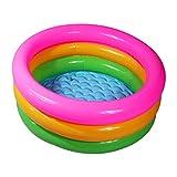 XINGQIANRU Runde Dreifarbige Drei-Ring-Kinder-Aufblasbare Pool-Baby-Pool PVC-Verdickung,90 * 25Cm