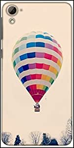 Snoogg Hot Air Ballooning Designer Protective Back Case Cover For HTC Desire 826