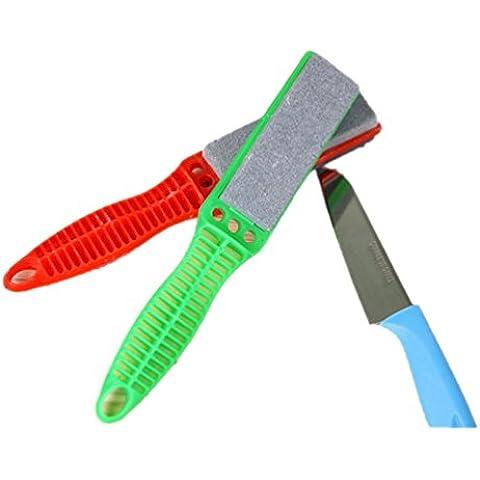 portatile universale coltello coltelli affilatura naturali Stone-2misure, confezione da 2 Size s,random color,pack of 2