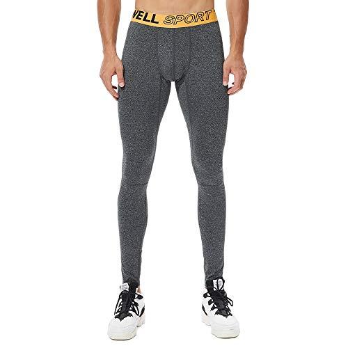 Celucke Sport Leggings Herren Laufhose Strumpfhose mit Quick Dry Funktion, Männer Fitness Hose Funktionswäsche Pro Cool Compression Tights