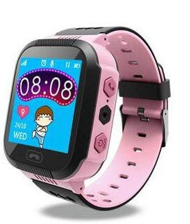 TrailO iSecureRely - Kids GPS Tracker SOS Smart Touch Screen Watch | Call Function, Remote Monitoring | 2G SIM Compatible | Kids Safety & Security (Pink Color)