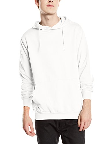 Stedman Apparel Herren Hooded Sweatshirt/ST4100 Kapuzenpullover, weiß, S Twill Hooded Fleece-sweatshirt