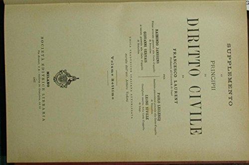 Supplemento ai Principi di diritto civile di Francesco Laurent. Vol. VII
