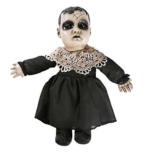 Viktorianische Porzellan Look Grusel Puppe Agatha Halloween Horror spricht 3 Saetze