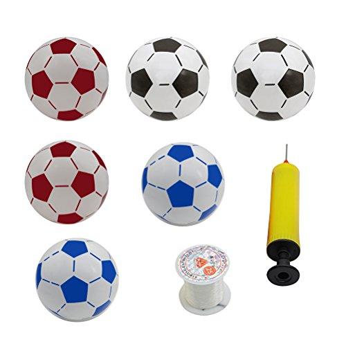 ßbälle Fußball Beach Ball Kinder Fußball Spielzeug Party Dekorationen für Pool Party Beach Party (Zufällige Farbe Inflator) ()