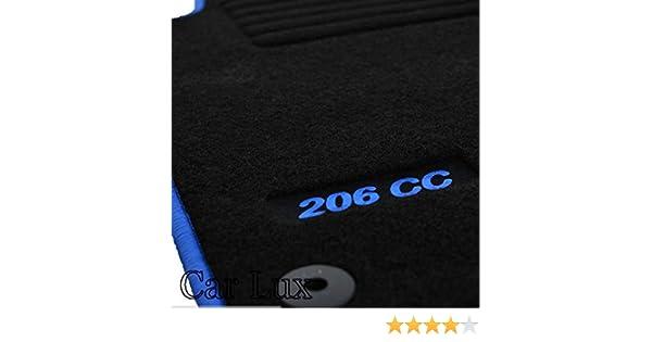 Car Lux ar03167/ /de Tapis de Sol sur Mesure Edition Velours Passepoil Bleu pour Le 206cc 206/CC