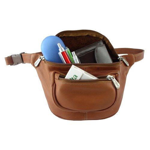 Piel Leather Los viajeros Un tamaño Deporte Bolsa de cintura, 23 cm, de una silla