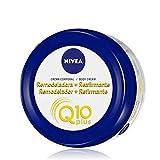 NIVEA Q10 Plus Crema Remodeladora + Reafirmante (1 x 300 ml), crema corporal reafirmante con coenzima Q10, crema hidratante para vientre, glúteos y caderas
