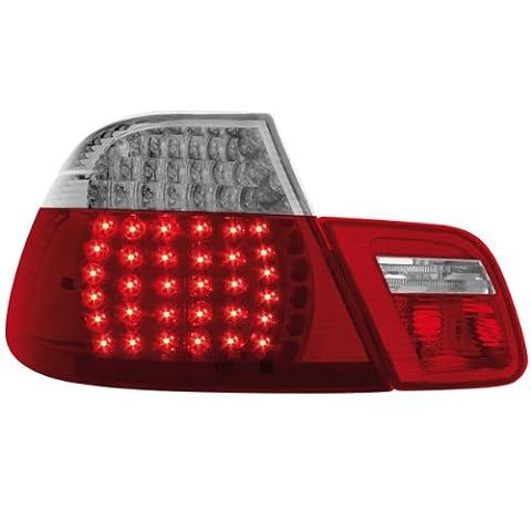 Dectane RB20DLRC Lot de 2 feux arrière LED pour BMW E46 coupé entre 1998 et 2002 (Rouge/cristal)