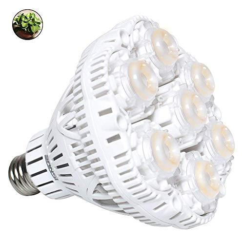 SANSI LED Pflanzenlampe vollspektrum E27 Tageslicht Pflanzenlicht wachstum weiß 36W Voller Zyklus 2700lm Wachstumslampe für Gewächshäusern,Innengärten,GrowBox,Zimmerpflanzen,Hydroponische Pflanzen