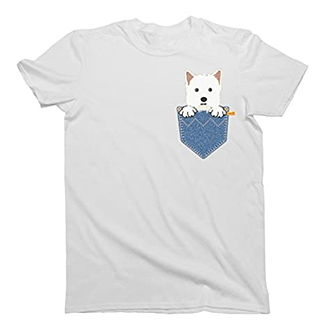 West Highland Terrier WESTIE Pocket Dog Unique T-Shirt Mens Ladies Unisex Fit