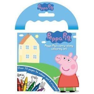 Peppa-Schwein Trägt - entlang dem Färben des Satzes [Spielzeug]