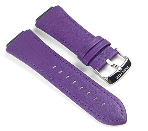Police Sphere Ersatzband Uhrenarmband Leder Band Lila für PL12096JS-04A