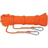 Suntime Corde Escalade 10M 15M 20M 30M, 8MM, 8KN, Corde Auxiliaire pour Escalade Alpinisme Grimpe Montagne Descente Rappel Orange