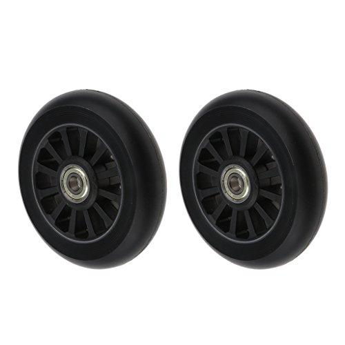 Unbekannt 2 pcs Inline Skate Rollen Ersatzrollen für Rollschuhe, 100 mm x 28 mm - Schwarz
