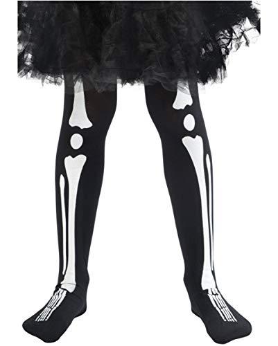 n Kinderstrumpfhose mit Skelett Print ()