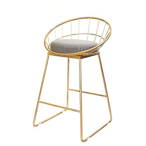 Qi Peng- Barhocker, Goldschmiedeeisenhalterung, hochwertige Tuchmatte, für Theke geeignet, Küchenbar, Sitzhöhe 45/65 / 75cm Barhocker (größe : XL)