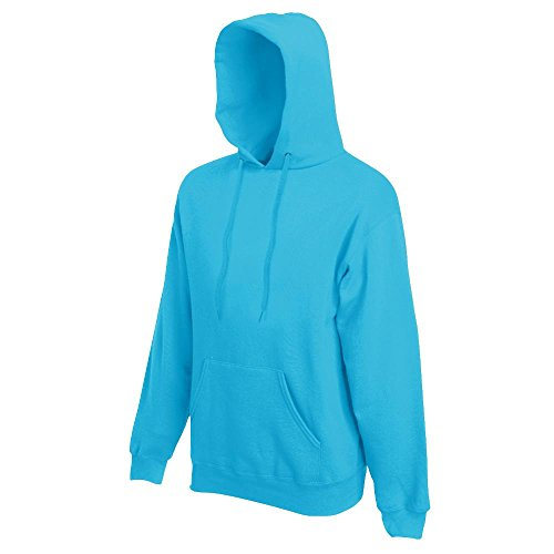 Fruit of the Loom - Kapuzen-Sweatshirt 'Hooded Sweat' M,Azure Blue