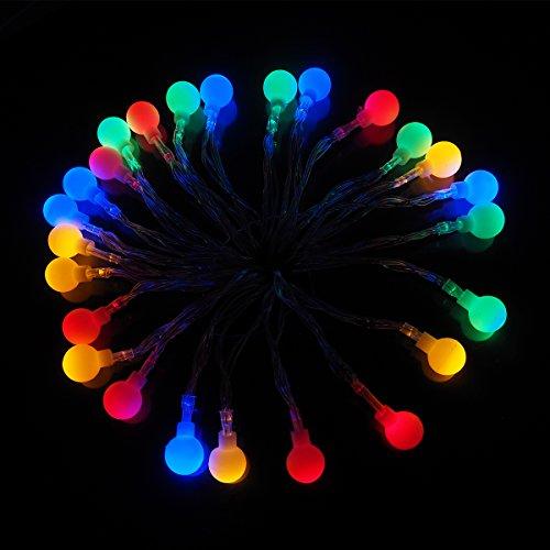 Lichterkett,LED Lichterketten Batteriebetrieben 10m 50er Lichtschlauch mit Batterie Kugeln Bunte für Innen Außen Zimmer Garten Partei CE Geprüft und Niederspannung Sicher