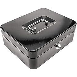 PrimeMatik - Caja Fuerte portátil para Dinero caudales Billetes y Monedas 249 x 198 x 88 mm