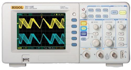 RIGOL DS1102E 100MHZ DIGITAL OSCILLOSCOPE  DUAL ANALOG CHANNELS  1 GSA/S SAMPLING  USB STORAGE BY RIGOL