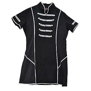 El celibato 14099705.008XL -Men gótica de Steampunk Evangelio de manga corta larga Camiseta Gr. XL delgado, negro/plata