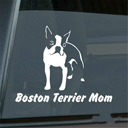 Wandaufkleber Kinderzimmer wandaufkleber 3d Auto Aufkleber Auto Aufkleber Boston Terrier Mom Aufkleber Die Cut Window Decal Größe (Zoll): 6.00 X 4.73 -