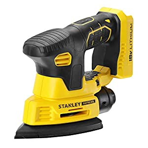 Stanley Fatmax FMCW210B-Xj - Lithium-Ion Finishing Sander - 12,000 RPMs - Variable Speed - Effective Dust Collection - Grip Zones - Battery Not Included