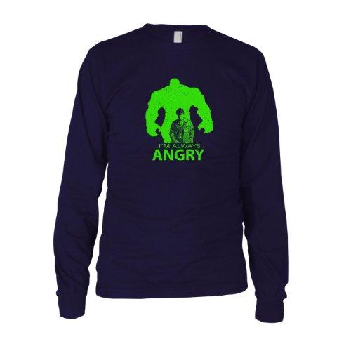 I'm always Angry - Herren Langarm T-Shirt Dunkelblau