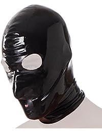 Rimba Masque/Cagoule en Latex Noir Taille M/L