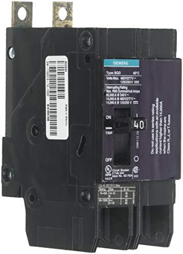 Pole 40 Amp (Siemens bqd24040-amp Doppel Pole 480y/277V AC-125/250V DC 14kaic Bolzen in vorzubeugen)
