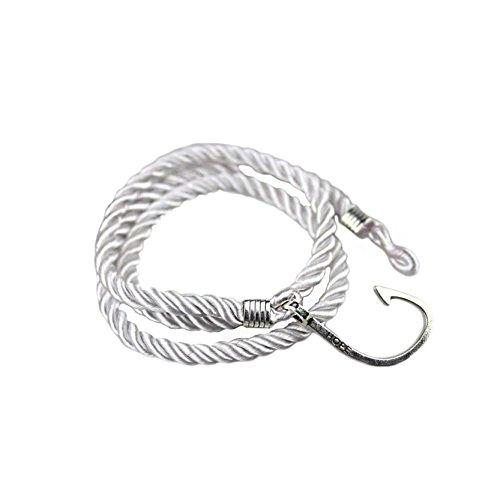 Jiayiqi Bracelet Breloque Corde Multicouche Bracelet Masculines Blanc