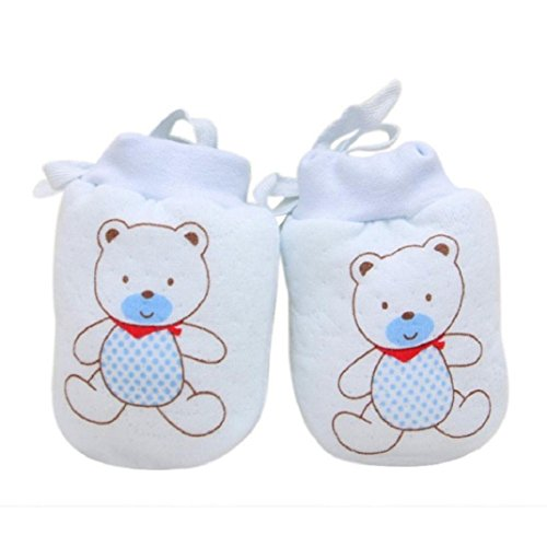 Amcool Baby Handschuhe,Schön Baby Mädchen Junge Blatt Warme Handschuhe(0-12 Monate) (0-12 Monate, Blau 1)