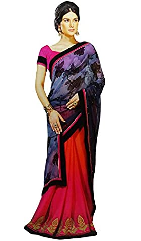 Bollywood Indian Designer Saree Ethnic Party Wear Sari Wedding Dress