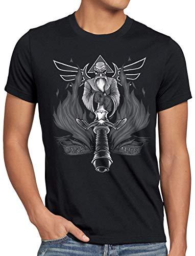 A.N.T. Nimm das Master Schwert Herren T-Shirt Sword link Hyrule Zelda, Größe:XXXL