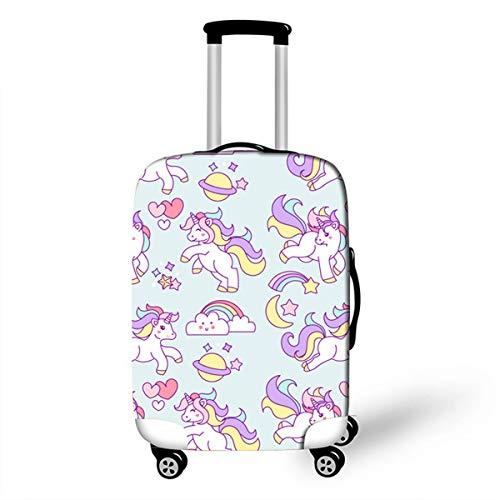 OSVINO Koffer Abedeckung Kofferschutzhülle Einhorn-Serie fest mit Reißverschluss für 18-28 Zoll Reisekoffer, Einhorn3 L/26-28 Zoll