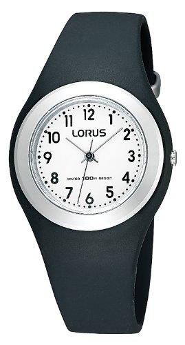 Lorus-R2395FX9 Unisex Watch Analogue Quartz Black Rubber Strap