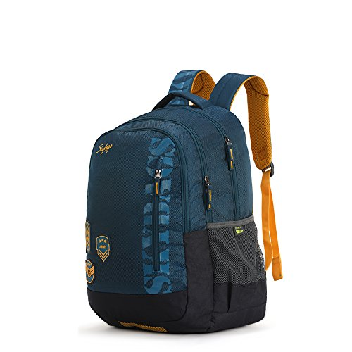 9. Skybags Bingo Extra 35 Ltrs Blue School Backpack