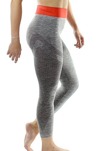Damen Fitness-Studio Yoga-Hose 3/4 Länge Capri-Leggings von UK Ethical Activewear Marke Sundried® (Small)