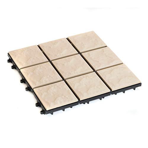 Mattonella 30x30 Ceramica Terracotta Beige Modulare Pavimentazione assemblabile pavimento
