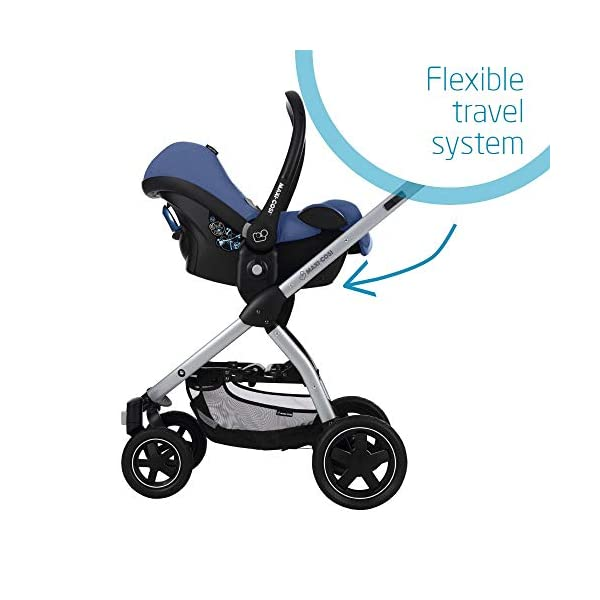 Maxi-Cosi CabrioFix Baby Car Seat Group 0+, ISOFIX, 0-12 Months, Frequency Blue, 0-13 kg Maxi-Cosi Baby car seat, suitable from birth to 13 kg (birth to 12 months) Side protection system for optimal protection against side impact Extra comfortable head support thanks to extra padding 7