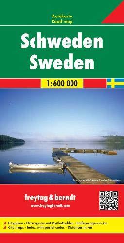 Schweden, Autokarte 1:600.000, freytag & berndt Auto + Freizeitkarten (Landkarte Schweden)