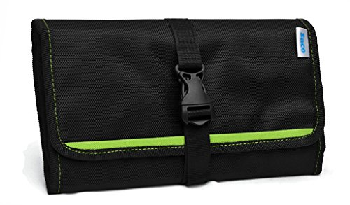 Saco Gadget Organizer Bag For All Gadgets, Power Bank, Cables, Usb Pen Drives, Mobile Phone Accessories Memory Cards, Simcards, DSLR Digital Camera Accessories Organiser / Universal Travel Bag Go Bag /Universal Travel Kit Organizer For Small Electronics And Accessories & Other Digital Devices - (Green)  available at amazon for Rs.491