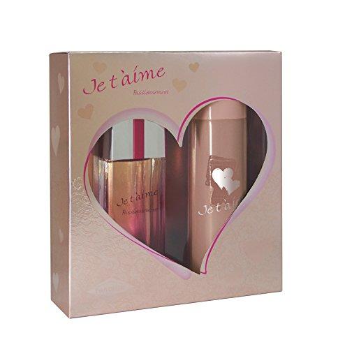 JE T'AIME Passionnément Coffret Eau de Parfum + Déodorant pour Femme 250 ml